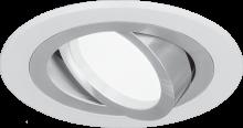 Gauss Aluminium AL010  круглый белый/хром