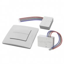 Комплект HiTE PRO KIT-2 (двухклавишный радиовыключатель + 2 реле + рамка) передатчик на 2 канала и два приемника (по 1 каналу)